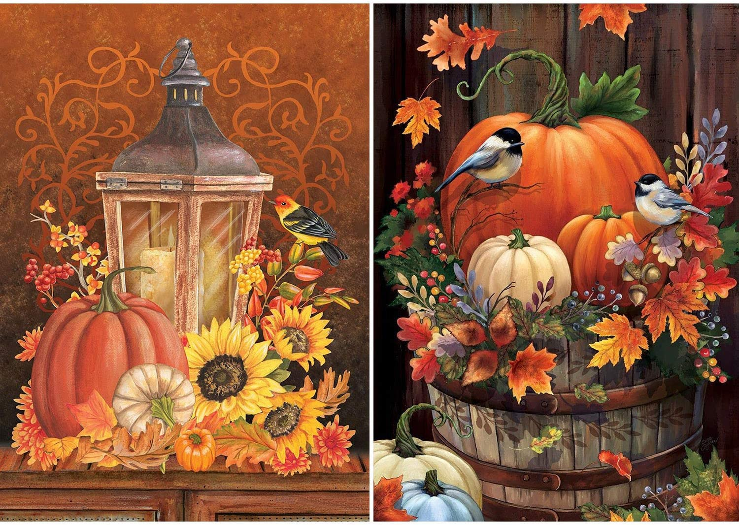 High quality 2 Pack DIY 5D Diamond Painting Superior Halloween Kits Adults for Pumpki
