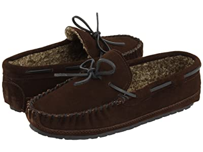 Minnetonka Casey Slipper (Chocolate Suede) Men