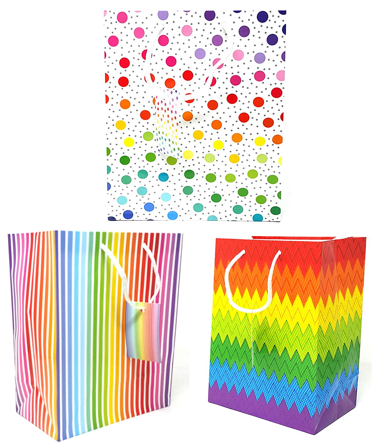 Style Design (TM) Dozen Wine Gift Bags -Great for All Your Gifts - Assorted Designs (Colorful, Wine)