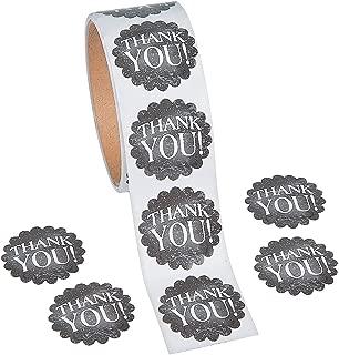 Fun Express 1 Roll ~ Thank You Chalkboard Theme Stickers ~ 100 Round 1.5