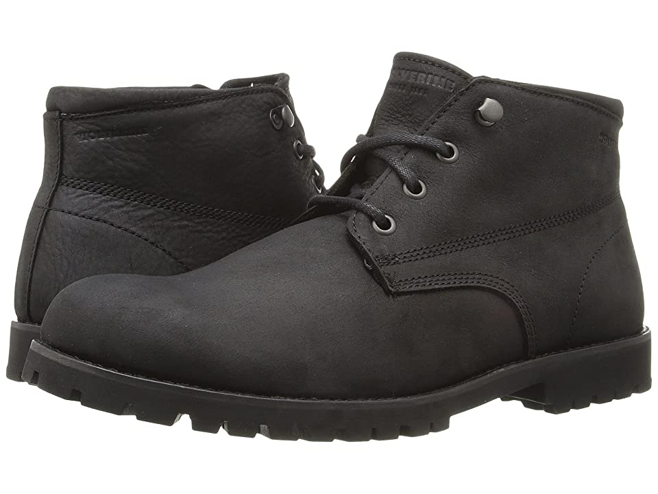 Wolverine Heritage Cort Waterproof Leather Chukka (Black Leather) Men