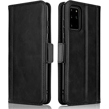 ProCase Galaxy S20 / S20 5G Genuine Leather Case, Vintage Folio Flip Case with Kickstand Card Holders Leather Wallet Case for Galaxy S20 / S20 5G 6.2 Inch 2020 Release -Black