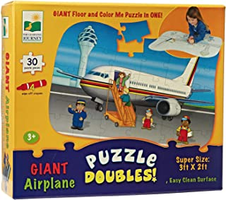 The Learning Journey Giant Airplane 2 in 1 Floor Color Puzzle