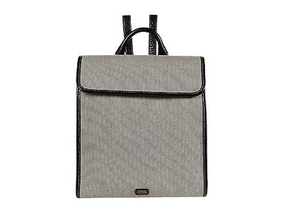 Frances Valentine Trey Salt and Pepper Canvas Backpack (Black/Black) Backpack Bags