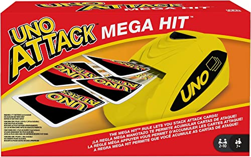 UNO: Attack Mega Hit Card Game with Card Shooter, Great for Kid, Adult or Family Game Night, 7 Years and Older [Amazo...