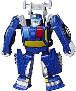 Transformers Playskool Heroes Rescue Bots Academy Chase The Police-Bot Converting Toy, 4.5