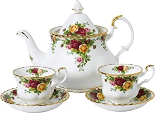Royal Albert Old Country Roses Teapot, Teacup & Saucer, 1.25 liters