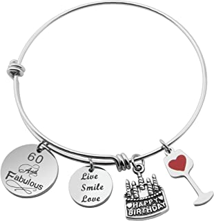 MAOFAED Birthday Bracelet Gifts for Her Expandable Bangle 30th 40th 50th 60th Perfect Birthday Gift Ideas