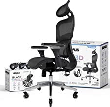 NOUHAUS Ergo3D Ergonomic Office Chair - Rolling Desk Chair with 4D Adjustable Armrest, 3D Lumbar Support and Extra Blade W...