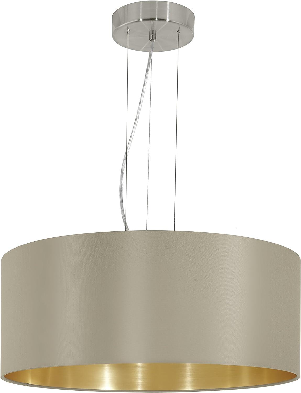 EGLO Hngeleuchte, Stahl, E27, Nickel-matt Taupe Gold, 53 x 53 x 110 cm