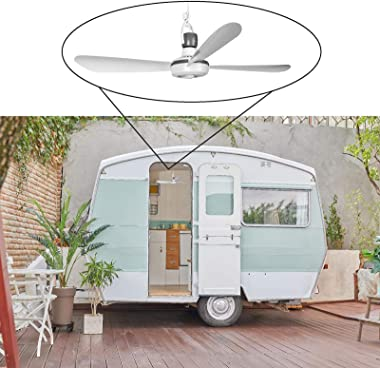 Ventilateur de plafond mobile avec prise et interrupteur 220 V-240 V/5 W Ø 40 cm Ventilateur de plafond portable avec système