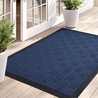 Color&Geometry Large Outdoor Doormats Durable Door Mat, Heavy Duty Anti-Slip Waterproof Low Profile Rubber Front Door Mat ...