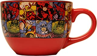Marvel MV9124 Comics Grid Ceramic Soup Mug, 24-Ounces, 24 oz, Multicolor