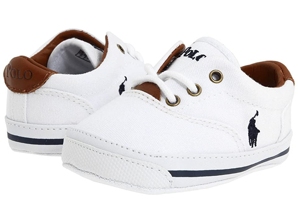 Polo Ralph Lauren Kids Vaughn (Infant/Toddler) (White Canvas) Kids Shoes