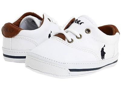 Polo Ralph Lauren Kids Vaughn (Infant/Toddler) (White Canvas) Kids Shoes