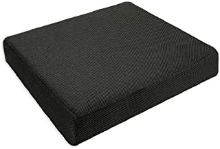 The White Willow Orthopedic Memory Foam High Resilience Indoor Chair Square Cushion Seat Pads for Office,Car,Home,Floor He...