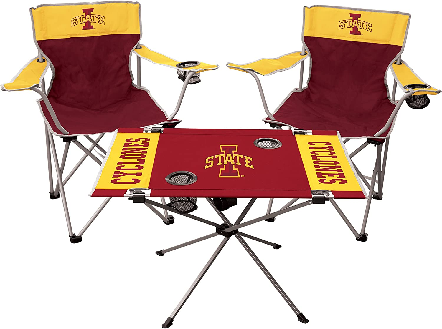 All Team Options Includes 2 Chairs /& 1 Table RAWLINGS NCAA 3-Piece Tailgate Kit