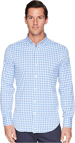 Shaped Fit Gingham Plaid Woven Shirt