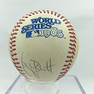 George Brett Signed 1985 World Series Baseball PSA DNA COA
