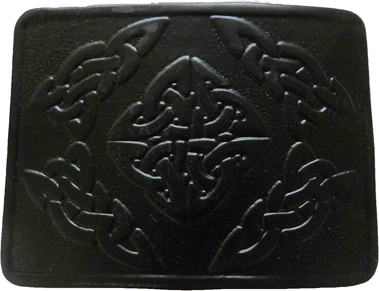 UTK Scottish Kilt Max 73% OFF Black Popular popular Belt Powder Coated Buckle