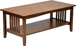 Metro Shop Sierra Mission Medium Oak Finish Coffee Table-Mission Coffee Table in Medium Oak Finish