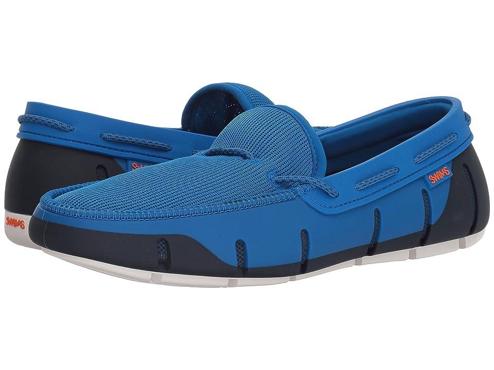SWIMS Stride Lace Loafer (Blitz Blue/Navy/White Fleck) Men