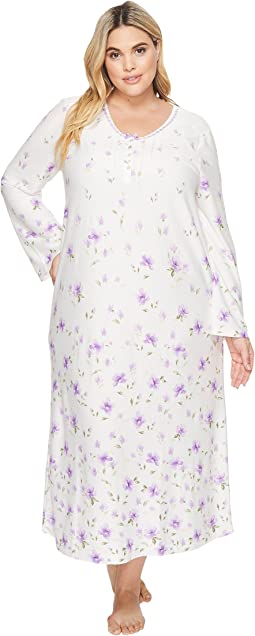 Carole Hochman - Plus Size Border Print Long Gown