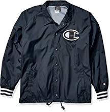 Champion LIFE Men's Satin Coaches Jacket with Ribbed Cuffs