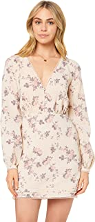 STEVIE MAY Women's Alyssa Mini Dress, White with Floral Print