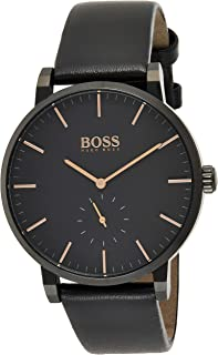 Hugo Boss Mens Quartz Watch, Chronograph Display and Leather Strap 1513768