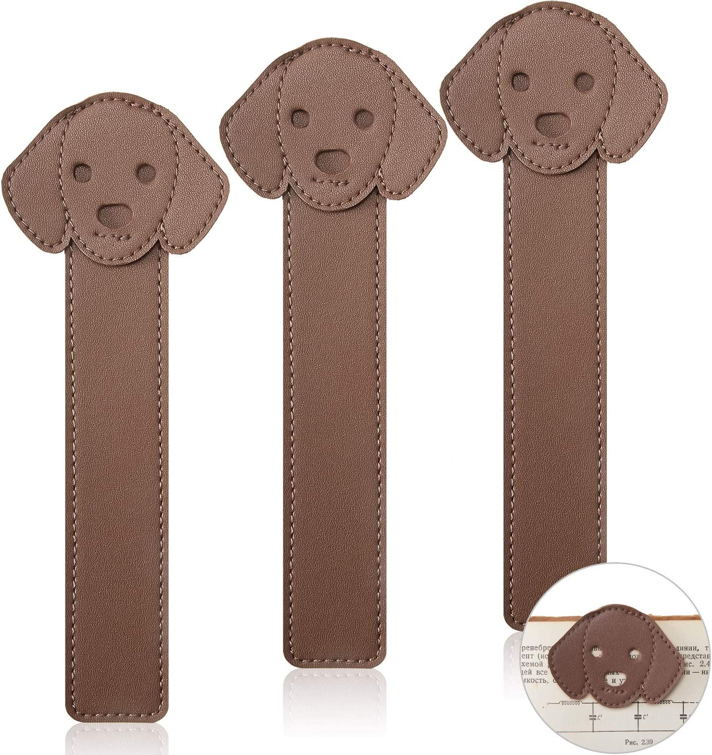3 Pieces Faux Leather Dog PU Gorgeous Bookmarks Puppy Portland Mall Animal Ha