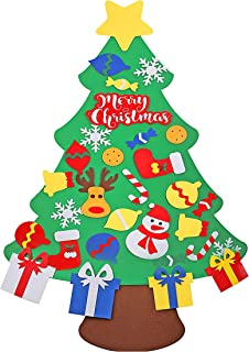 Woods World 3.78ft DIY Felt Christmas Tree Set 30 pcs with Detachable Ornaments - Wall Hanging Xmas Gifts for Christmas Decorations