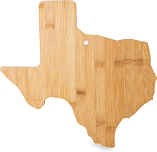 Outback Designs Texas State Shaped Bamboo Cutting Board – Durable & Eco-Friendly Bamboo Serving & Cutting Board – Texas Shaped Cheese Board – Beautiful Texas Home Décor – 14 x 13-3/8th x 5/8th Inches