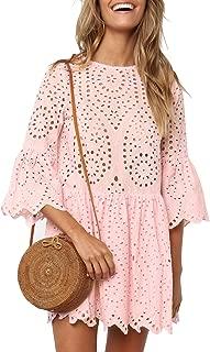 Best light pink eyelet dress Reviews