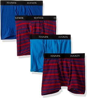 سروال داخلي قصير للأولاد من هانز بينز، 4 قطع