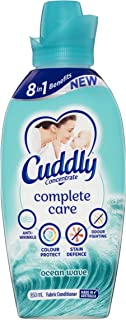 Cuddly Concentrate Fabric Softner Conditioner Complete Care Ocean Wave Made in Australia 850mL