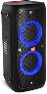 JBL PartyBox 300 Rechargeable Bluetooth Party Boombox Speaker – High Power Audio System with Light Effects and Mic/Guitar ...