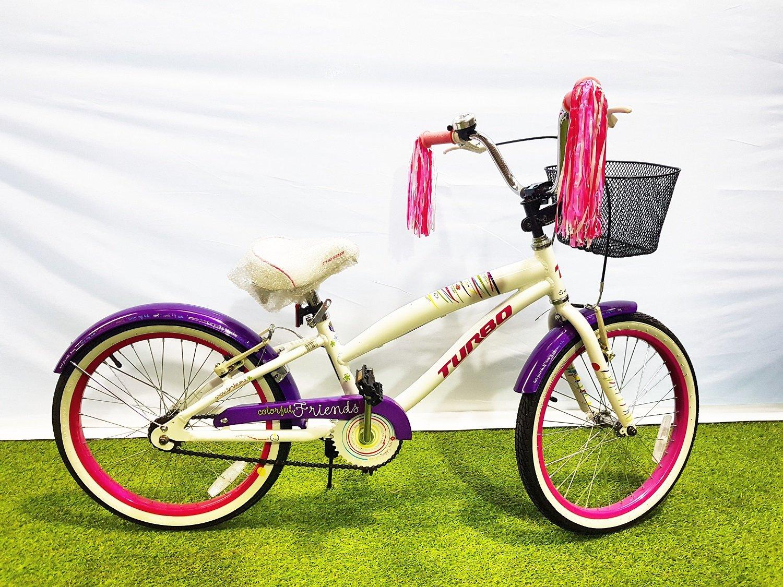 Turbo Bicicleta Bicicleta Colorful 20 Color Blanco con Cesta ...