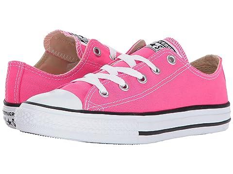 Converse Kids Chuck Taylor All Star Ox Little Kid/Big Kid Girl's Shoes (6 Big Kid M, Sunset Glow/Sunset Glow/White)