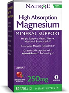 Natrol High Absorption Magnesium Chew Tablets, 60 Count