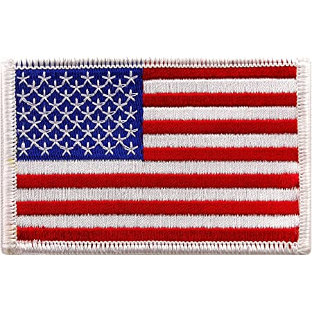 "USA baseball flag 3.5/"" x 2.25/"" Embroidered Logo Sew Ironed On Badge Embroidery"