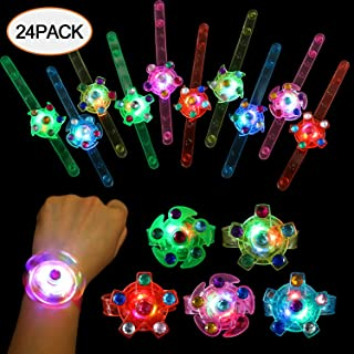 SCIONE Party Favors for Kids 24 Pack Light Up Bracelets Classroom Prizes Box Glow in The..