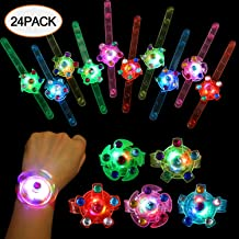 SCIONE Party Favors for Kids 24 Pack Light Up Bracelets Classroom Prizes Box Glow in The Dark Party Supplies Girls Boys Bi...