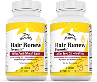 Terry Naturally Hair Renew Formula (2 Pack) - 60 Softgels - Supports Healthy Hair Growth, Nourishes Thinning Hair, Contain...