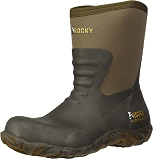 ROCKY Rocky Core Chore Brown Rubber Outdoor Boot mens Mid Calf Boot
