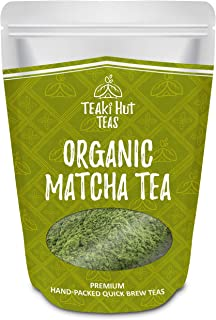 Teaki Hut Orgánica té verde Matcha polvo de 4 onzas