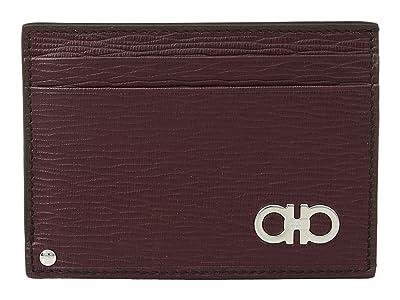 Salvatore Ferragamo Revival Gancio Porta Carte Di Credito 66A061 (Wine) Wallet Handbags