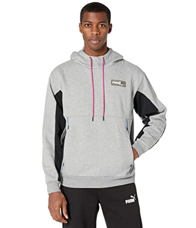 PUMA Franchise Winterized Hoodie (Medium Gray Heather) Men
