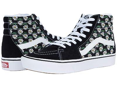 Vans ComfyCush SK8-Hi ((Scribble Flower) Daisy/Black) Athletic Shoes