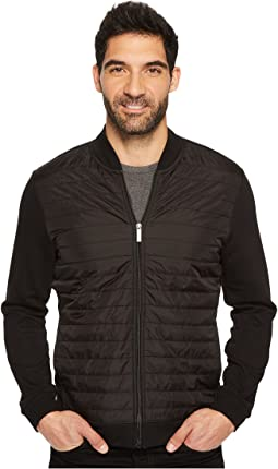 Quilted Mix Media Full Zip Jacket